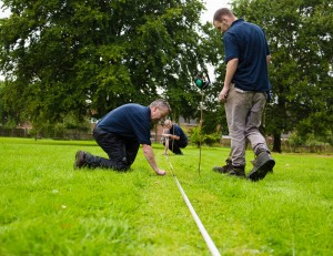 Two of our team members getting expert line marking training.
